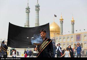 عکس/ مراسم عزاداری شهادت امام جواد(ع) در قم