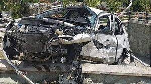 عکس/ واژگونی خودرو سواری در بزرگراه همت