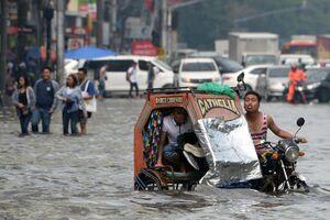 عکس/ وقوع سیل در فیلیپین