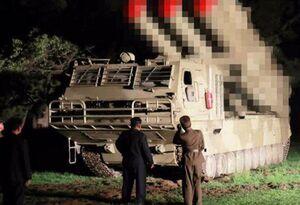 عکس/ آزمایش جدید سامانه پرتاب موشک کره شمالی