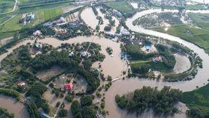 تصاویر هوایی از سیل مهیب در چین