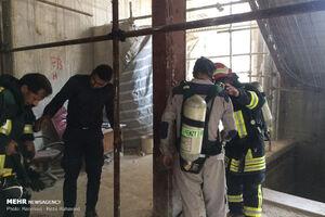 آتش سوزی هتل آسمان شیراز