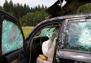 فیلم/ انجام تست خودروی ضد گلوله را ببینید