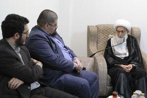 دیدار مدیران رسانههای ایران با آیت الله عیسی قاسم +عکس
