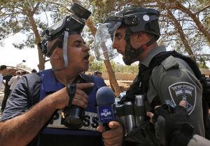 درگیری خبرنگار ایرانی با سرباز اسرائیلی