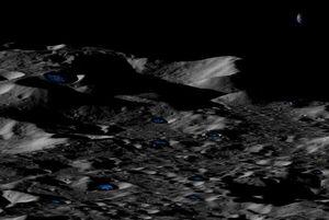 محل وجود آب یخ زده در ماه مشخص شد