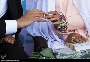 عکس/ مراسم عقد زوج همدانی در کنار مزار شهدای گمنام