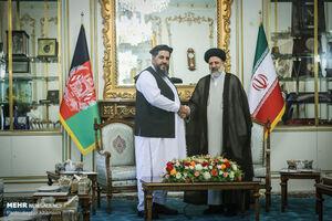 دیدار رئیس مجلس سنای افغانستان با آیت الله رئیسی