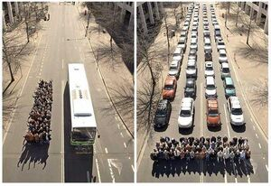 عکس/ تبلیغی جالب برای حمل و نقل عمومی