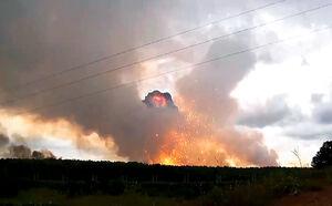 انفجار انبار تسلیحات در روسیه