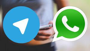 «واتس آپ» در حال سبقت از «تلگرام»