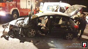 عکس/ واژگونی پژو 207 در بزرگراه شهید فهمیده