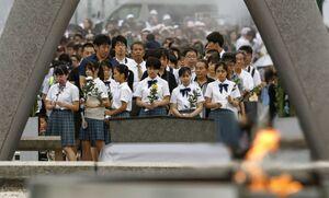 عکس/ یادبود سالگرد بمباران اتمی هیروشیما در ژاپن