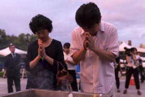 یادبود سالگرد بمباران اتمی هیروشیما در ژاپن