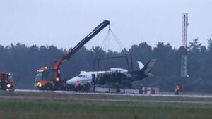 فرود ناموفق یک هواپیما در دانمارک