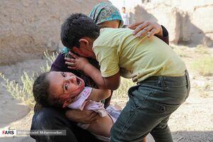 عکس/ برگزاری مانور زلزله در اَنار کرمان