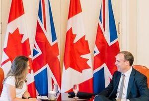 وزرای خارجه انگلیس و کانادا