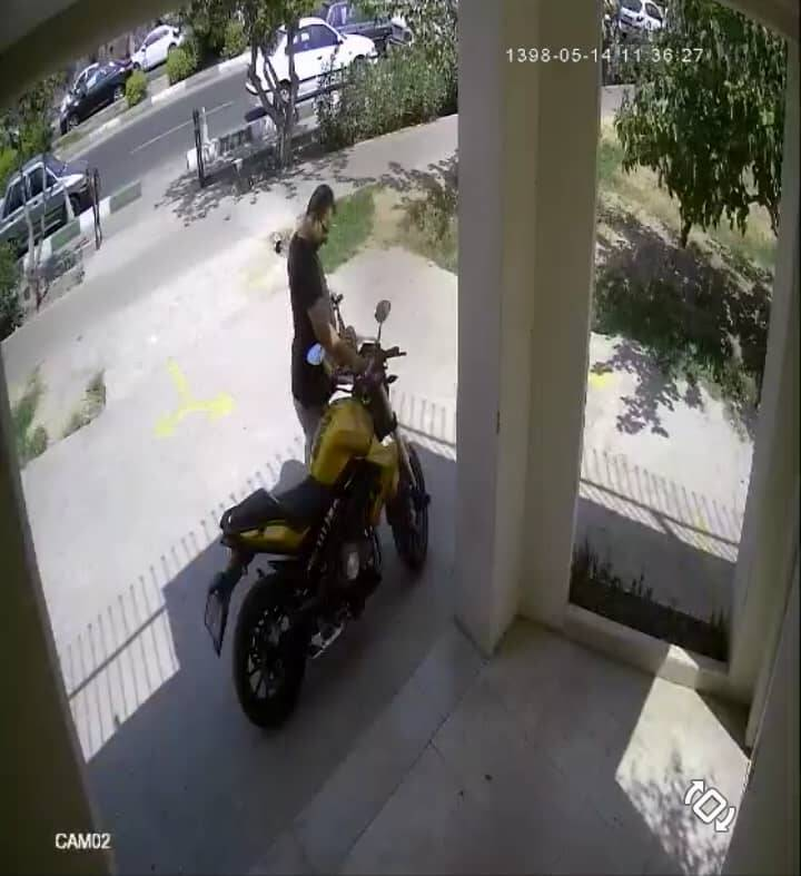 سرقت موتورسیکلت در سه ثانیه