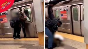 عاقبت پرتاب آب دهان به مسافران مترو +فیلم