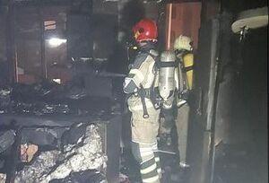 آتش سوزی یک منزل مسکونی در محله فلاح