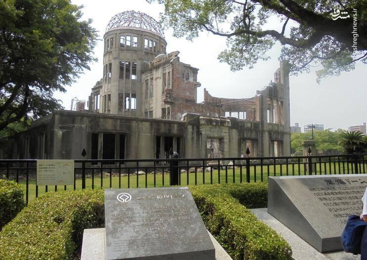 ساختمان گنبدی باقیمانده از انفجار اتمی (تصویر آرشیوی)
