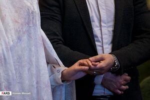 عکس/ مراسم عقد ۲۲۰ زوج بسیجی