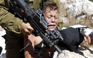 فیلم/ بازداشت وحشیانه کودک ۱۱ ساله فلسطینی