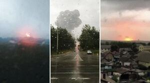 عکس/ انفجارهای پیاپی یک انبار مهمات در نزدیکی مسکو