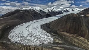 عکس/ یخچالهای طبیعی تبت