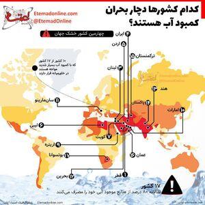 اینفوگرافیک/ کدام کشورها دچار بحران کمبود آب هستند؟
