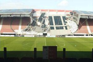 سقف ورزشگاه باشگاه آلکمار هلند فرو ریخت! +عکس