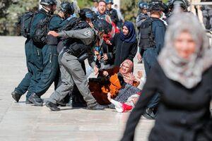 عکس/ یورش صهیونیستها به نمازگزاران عید قربان