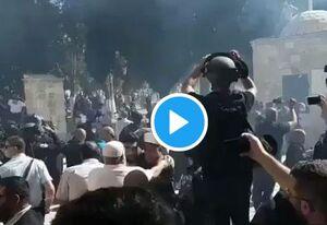 حمله به نمازگزاران فلسطینی در عید قربان +فیلم