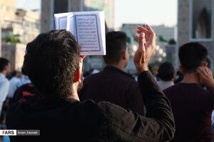 عکس/ مراسم دعای عرفه در حرم مطهر رضوی