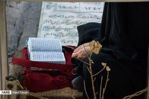 عکس/ دعای عرفه در قطعه شهدای بهشت زهرا