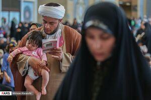 عکس/ دعای عرفه در حرم حضرت معصومه