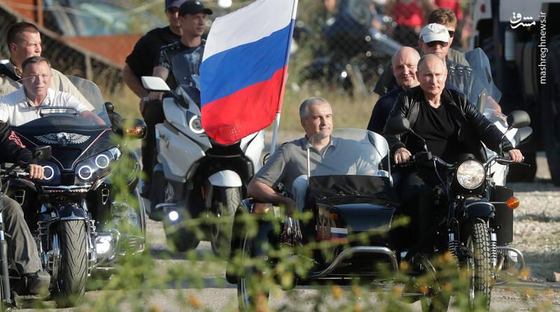 موتور سواری آقای رئیس جمهور