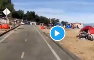 130 هزار نفر در کالیفرنیا در چادر زندگی میکنند! +فیلم
