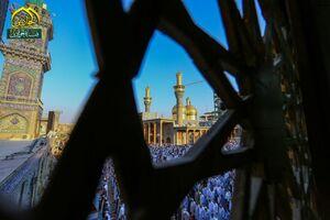 تصاویر زیبا از اقامه نماز عید قربان در کاظمین