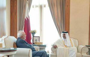عکس/ دیدار ظریف با امیر قطر