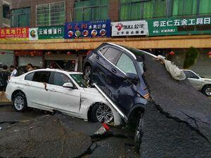 تصویری از شدت طوفان سهمیگن لکیما در چین