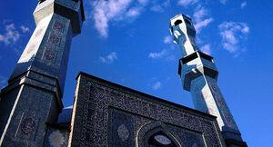 هنرنمایی استادکاران ایرانی در زیباترین مسجد ترکیه +عکس