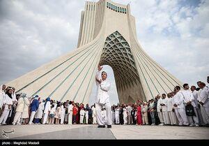 عکس/ دورهمی ووشوکاران ایرانی در میدان آزادی
