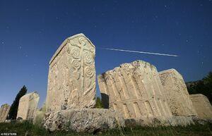 تصویر زیبای عبور شهاب سنگ از آسمان بوسنی