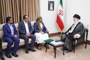 دیدار رهبری با جنبش انصارالله