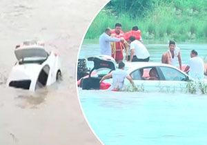 فیلم/ غرق کردن BMW هدیه در رودخانه!