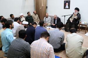 رهبری در دیدار با اعضای جهادگر