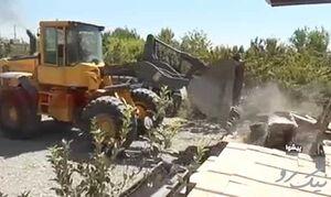 فیلم/ تخریب ویلاهای غیرمجاز ورامین