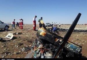 عکس/ سانحه سقوط هواپیمای آموزشی در گرمسار