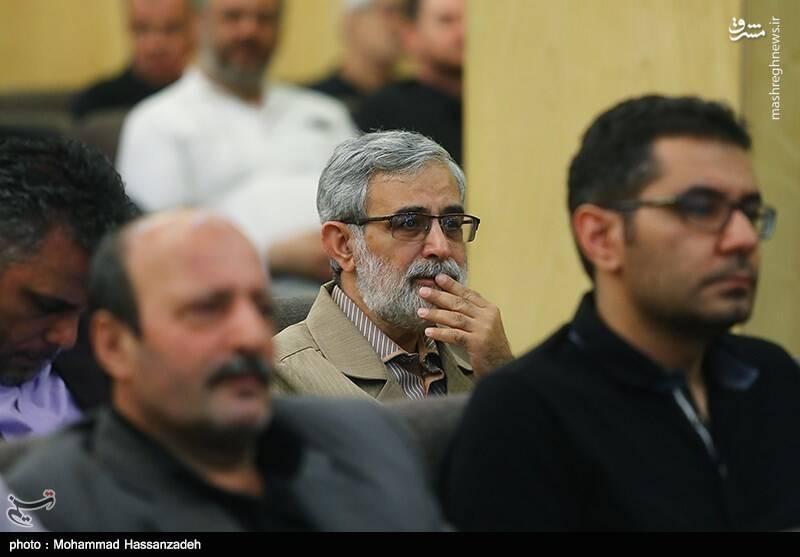 غلامحسین الهام در مراسم ترحیم دختر عباس سلیمینمین